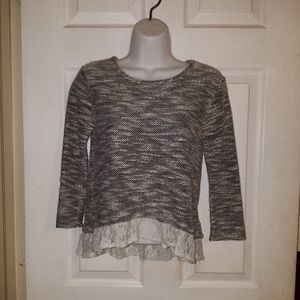 XOXO Gray Cardigan Sweater Pullover SZ MED